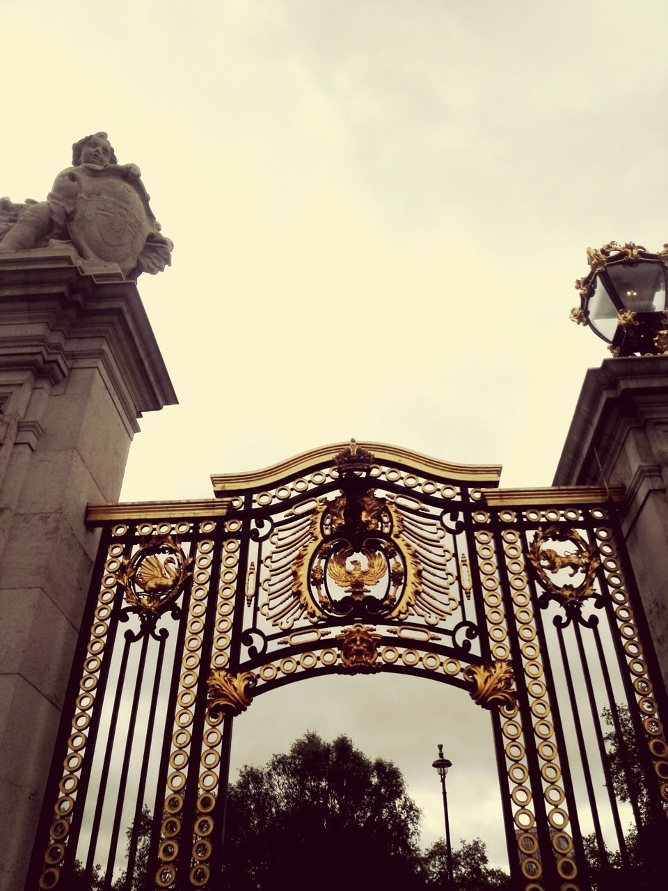Low Angle View Of Buckingham Palace Gates