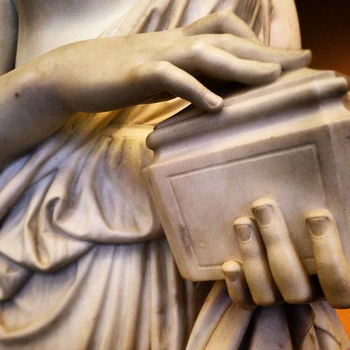 Art British Close-up Craft Cropped Detail Focus On Foreground Hands London Marble Museum Part Of Selective Focus Statue Stone