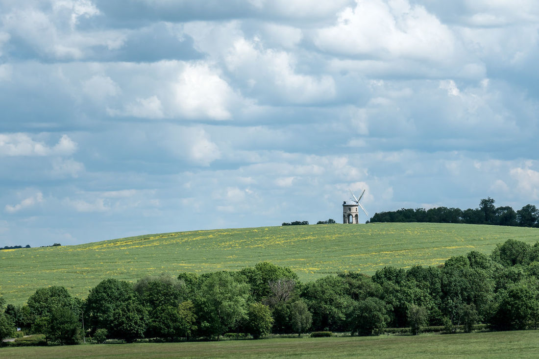 Chesterton Chesterton Windmill Cloud Cloud - Sky Cloudy Day Field Grassy Landscape Nature No People Non-urban Scene Outdoors Rural Scene Scenics Sky Tranquil Scene Tranquility Wind Power Windmill