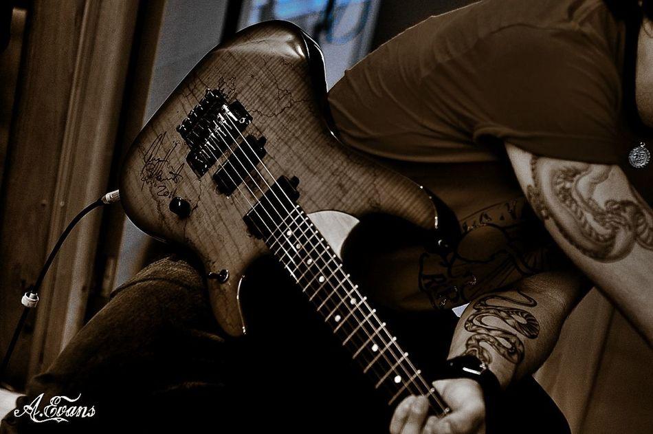 Recording Session Playing Guitar Studio Tattoo Brasil Attilio Negri Metal