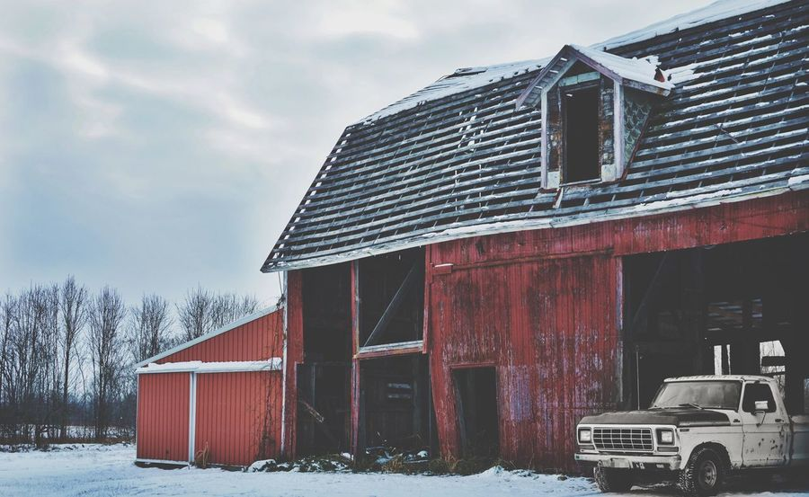 Built.. Classic Fordf100 F100 1979 Oldtruck Oldford Ford Truck Cold Temperature Winter Architecture Snow Building Exterior Outdoors Barn