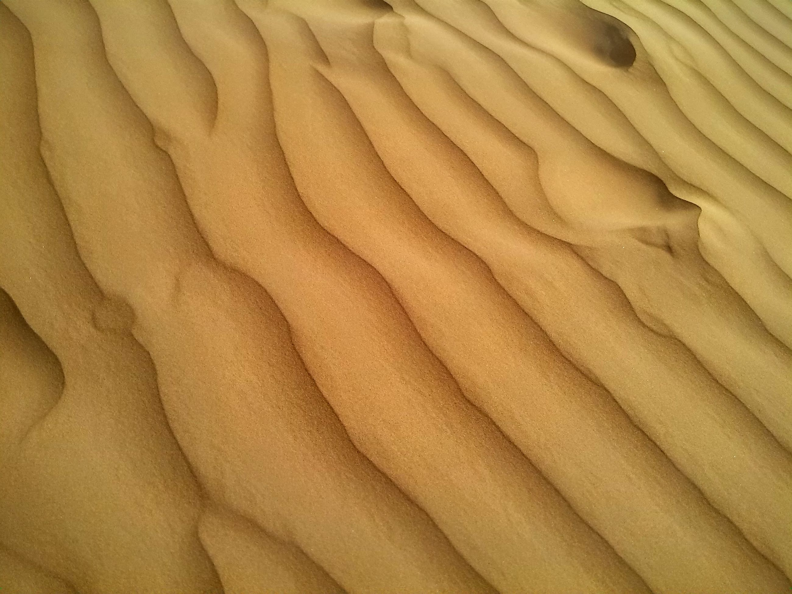 full frame, backgrounds, textured, pattern, natural pattern, sand, nature, brown, tranquility, close-up, rough, high angle view, beauty in nature, no people, beach, day, wave pattern, outdoors, detail, arid climate