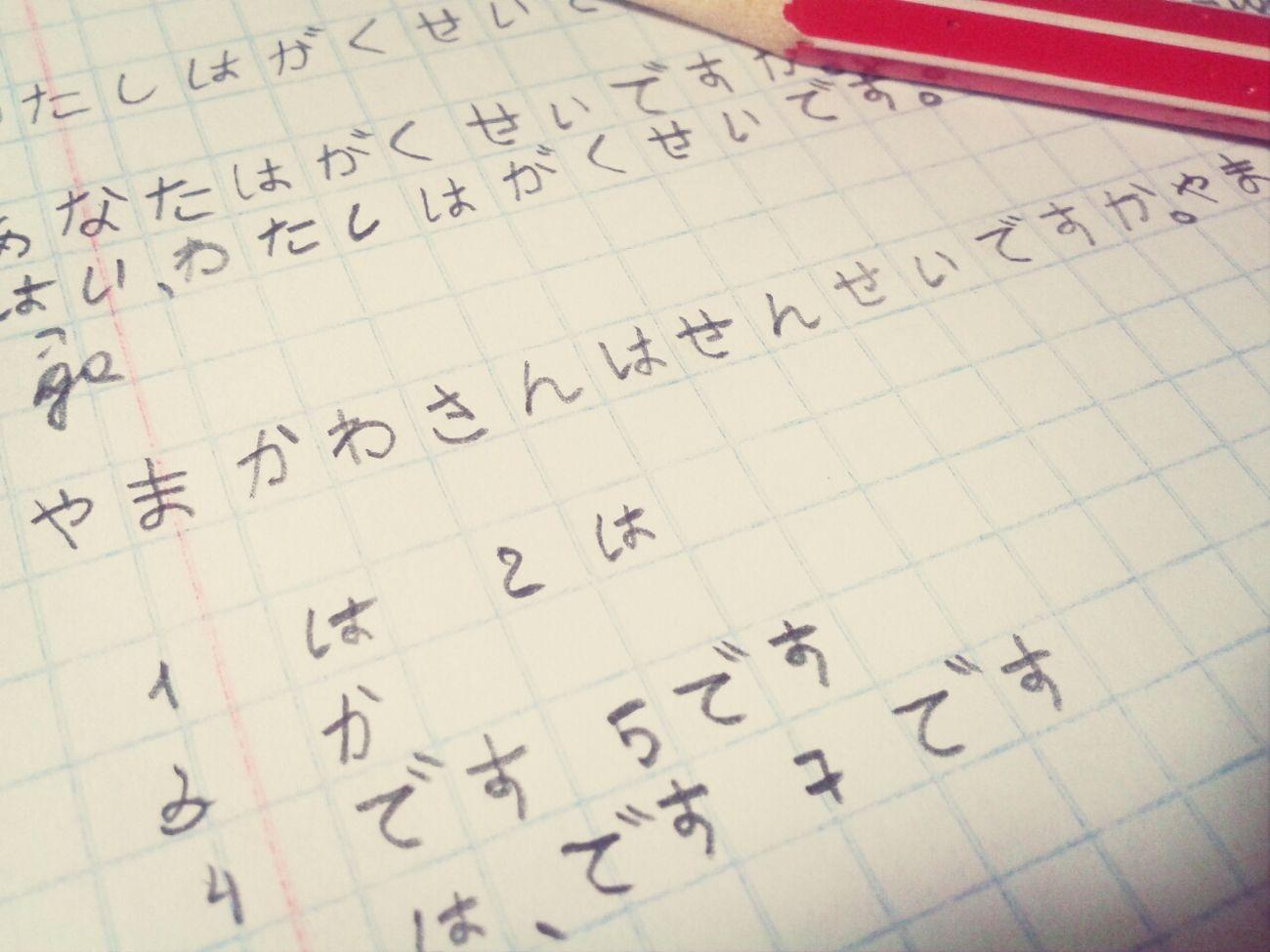 Japanese  Studying Hard Day 2
