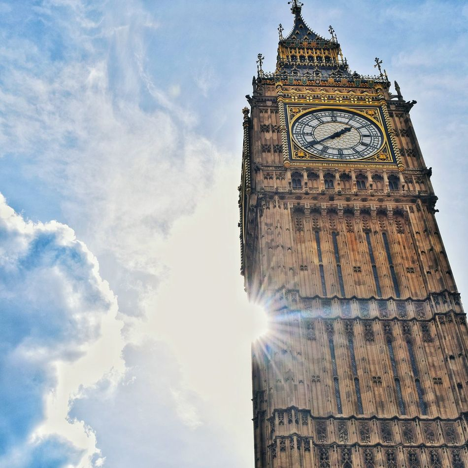 Shine 🌞England, UK Big Ben London Streetphotography Architecture Clock Tower Travel Destinations Government Built Structure Politics And Government Outdoors No People Day Clock City Sky Time