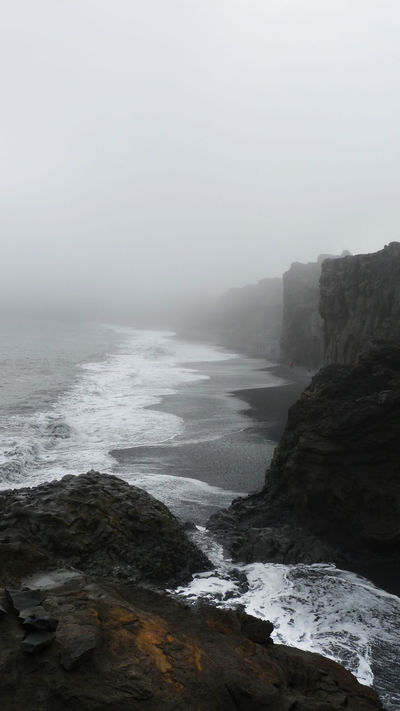 Landscape_Collection Beauty In Nature Bildfolge Cold Temperature Day Fog Island Landscape Nature No People Outdoors Photography Rock - Object Scenics Sea Sky South Island Tranquil Scene Tranquility Vertical Format Water Wave