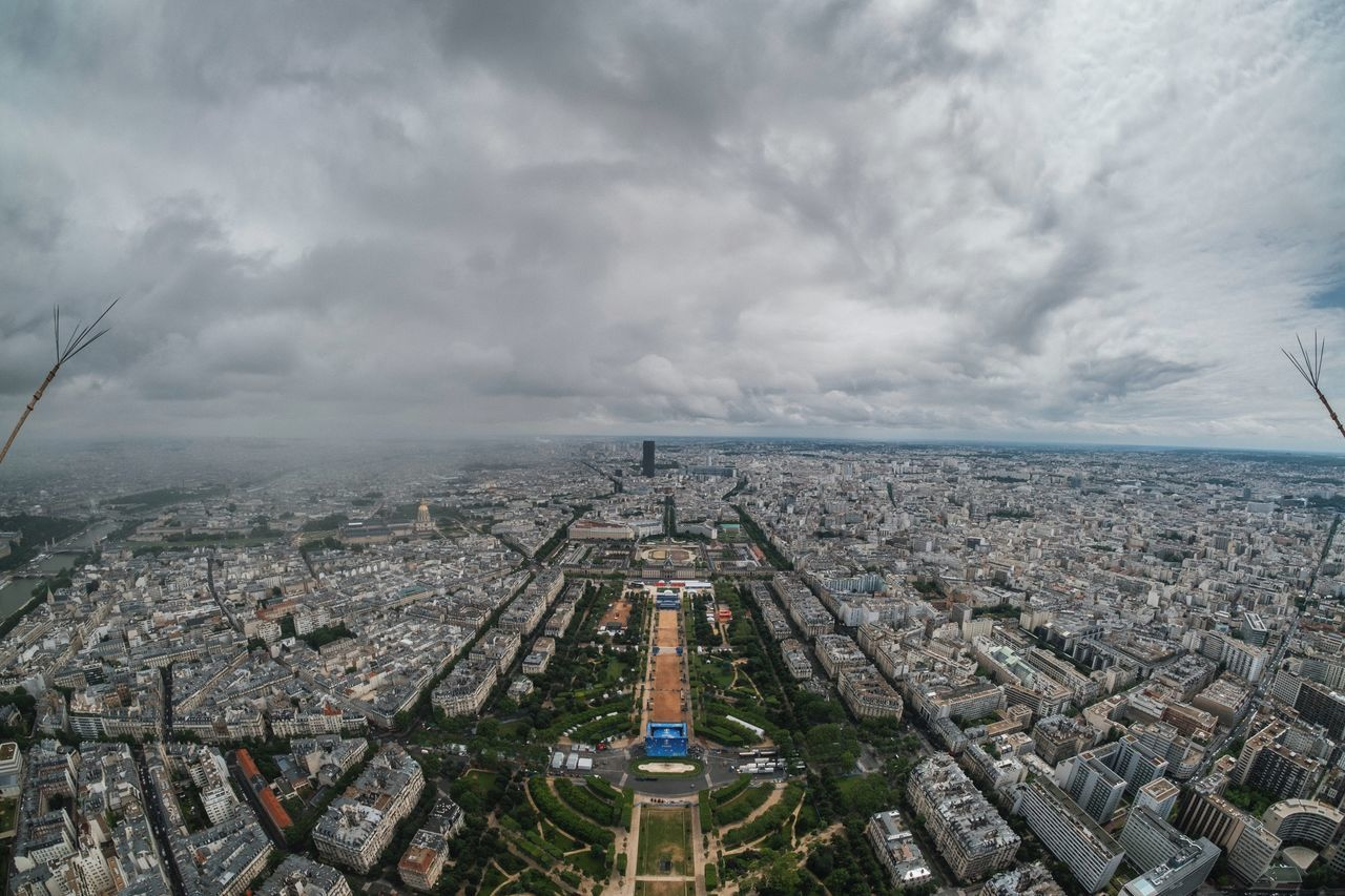 Aerial View Architecture Building Exterior Built Structure City Cityscape Cloud - Sky Crowded Day High Angle View Outdoors Paris Paris, France  Sky Skyscraper Travel Travel Destinations Urban Skyline