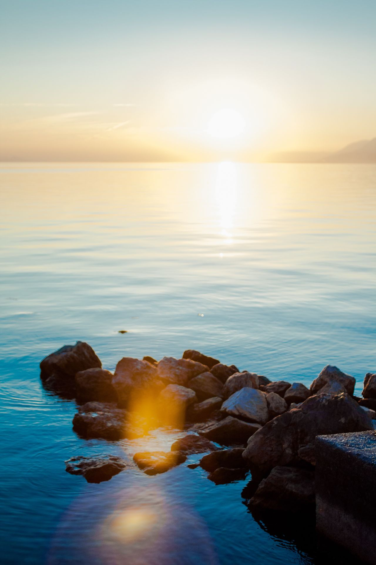 Sea Horizon Over Water Scenics Sunset Tranquil Scene Beach Nature Idyllic Sky Beauty In Nature Water Tranquility Horizon Rock - Object Outdoors No People Landscape Day Sun Sunshine Garda Gardasee Italy Photos Italy Holidays Italy