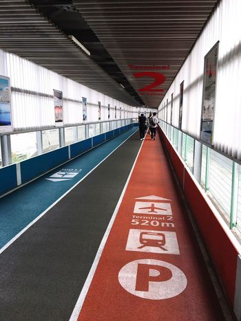 Thermal 3 in Natural airport Transportation Architecture Built Structure Indoors  Day Real People One Person People NARITAAIRPORT Runway Walkway Design Colorful Heading Destination Airport Japan Japan Photography