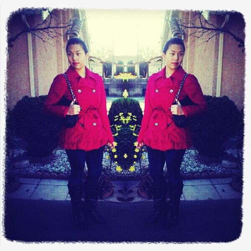OOTD for movie night~! Red Outfit #outfit #OOTD Outfit Of The Day Todays Outfit!
