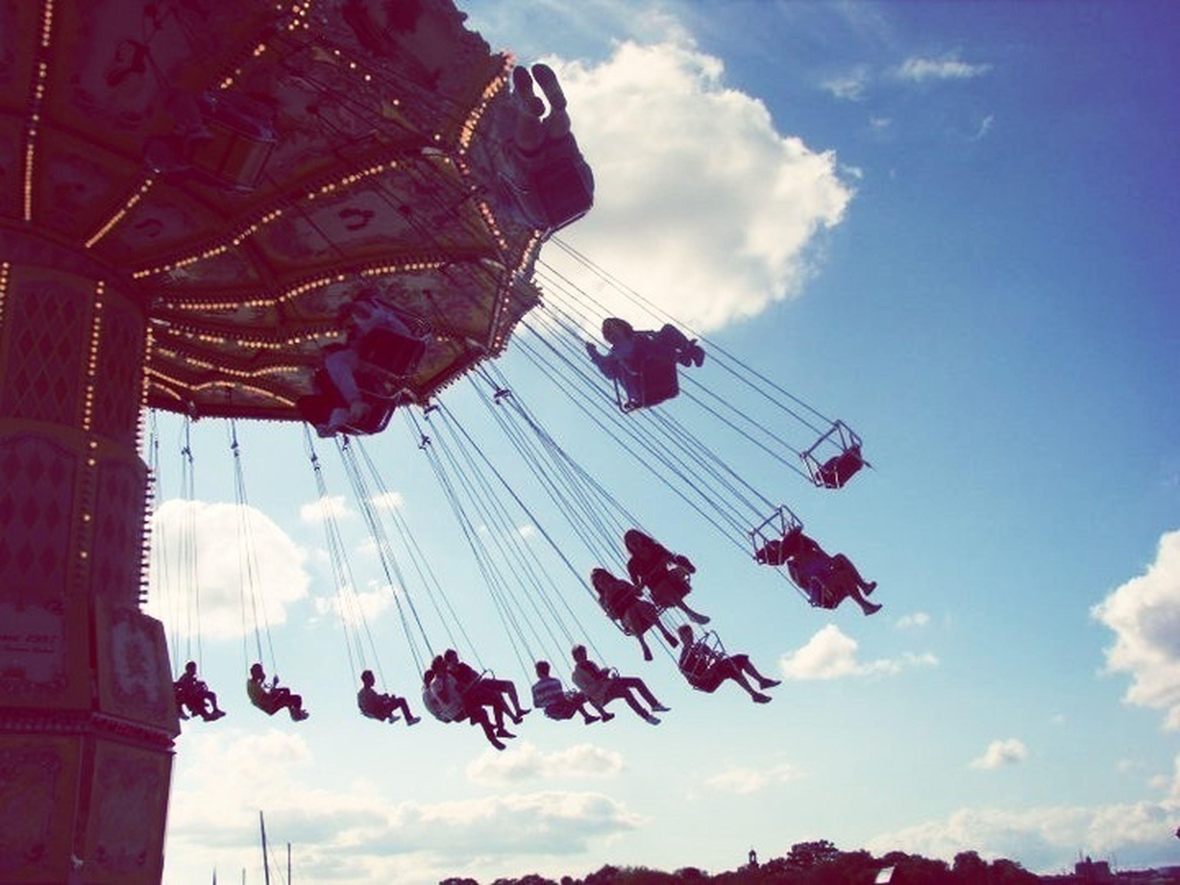 Summer Beautiful Swinging Photo