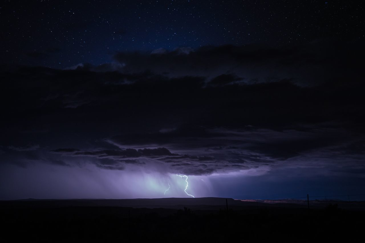 lightning, sky, night, weather, dramatic sky, cloud - sky, power in nature, nature, thunderstorm, forked lightning, beauty in nature, scenics, storm cloud, silhouette, storm, dusk, atmospheric mood, dark, landscape, no people, tranquil scene, moon, outdoors, tranquility, illuminated, sunset, astronomy