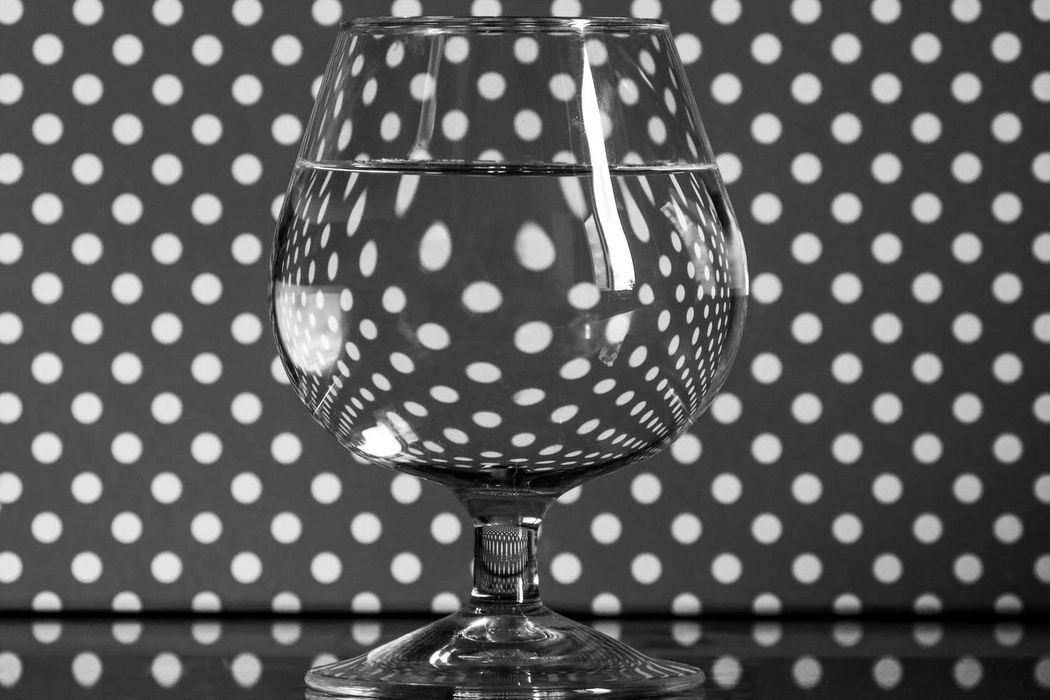 Abstraction Black And White Photography Black Color Close-up Distortion Drink Drinking Glass Indoors  No People Pattern Polka Dot Reflection Spotted Wine Wineglass Black And White Friday