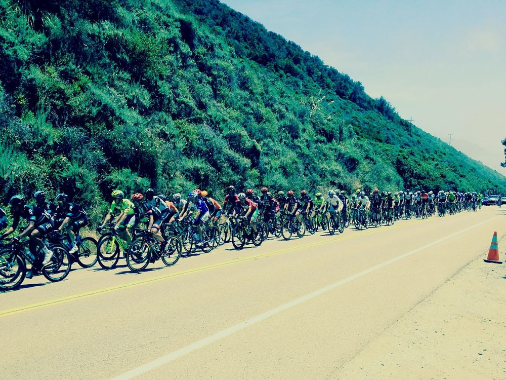 Amgen Tour Big Sur, Ca. Bicycle Race Highway 1 Lucky Me Home