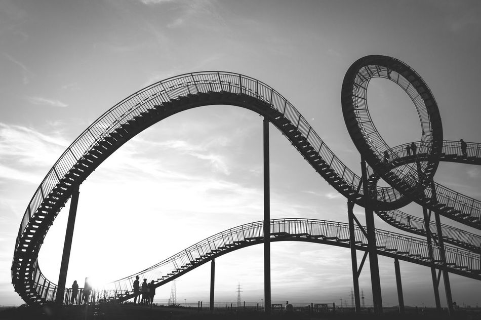 People Monochrome Loop People Together First Eyeem Photo Tiger And Turtle Art Fine Art Black And White Construction Fineart Landmark Arts Culture And Entertainment Industrial Tiger & Turtle Leisure Activity Monochromatic Architecture City Rollercoaster Outdoors The Secret Spaces Art Is Everywhere