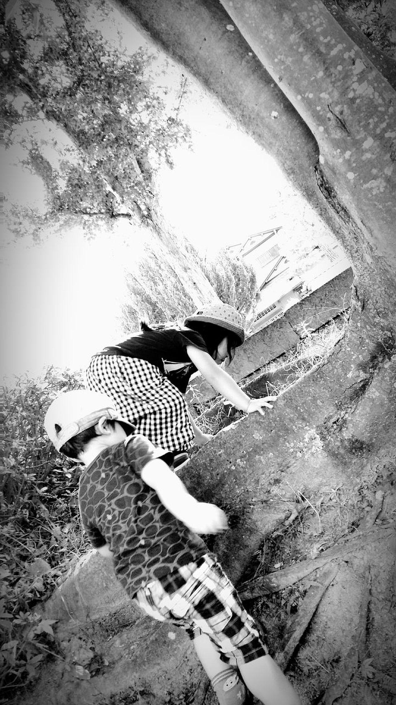 [16.08.21] 挑戦 。 Black & White Monochrome Walking Nature Tree Beauty In Nature Pixlr Japanese  Person Cool Japan Japan Park Outdoors Day People Creative Light And Shadow Black And White Enjoying Life Child