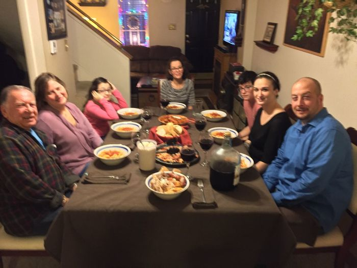 Sunday dinner with my family Christmas2015 LaDolceVita LaFamilia