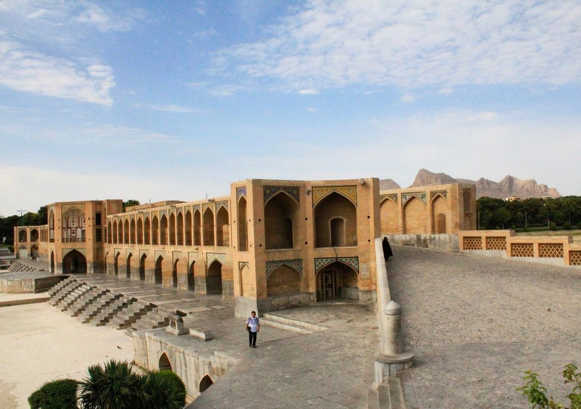 Khajoo or khaju bridge is the oldest bridge of isfahan, Iran. It's very famous bridge.....with 132 meters long and 12 meters wide.. Khajoo Khaju Bridge Persian Persianarchitecture Architecture Summer History Historical Building