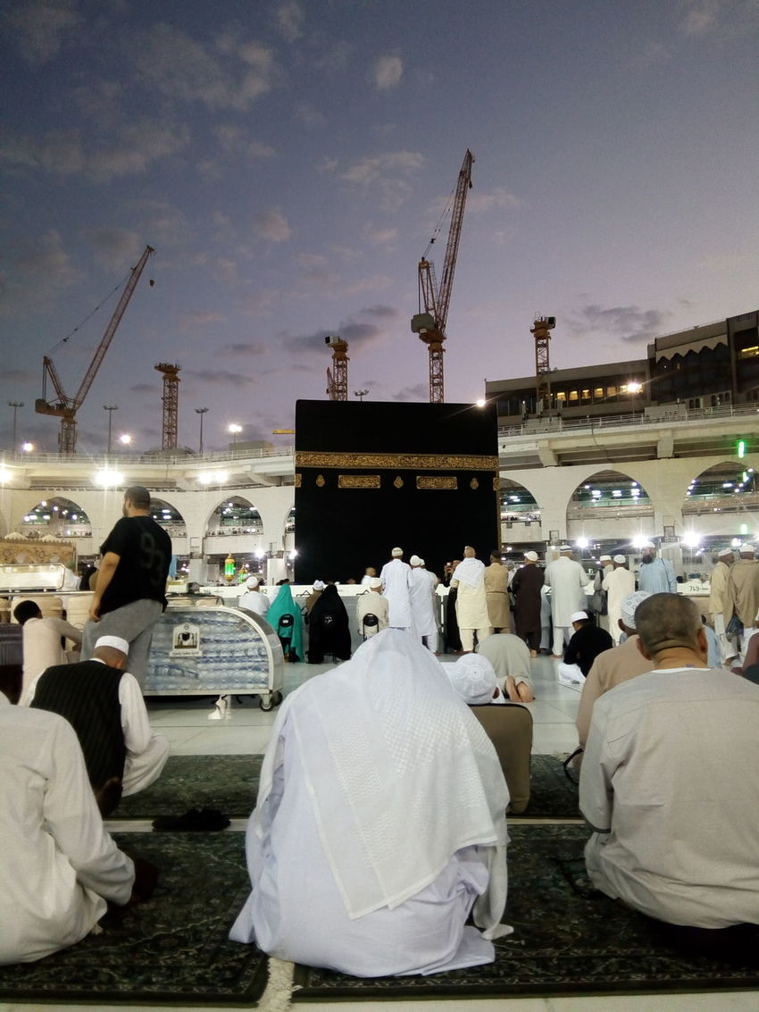 mecca Isalmic Holy Mecca Night Business Finance And Industry Water City Harbor Sky Outdoors