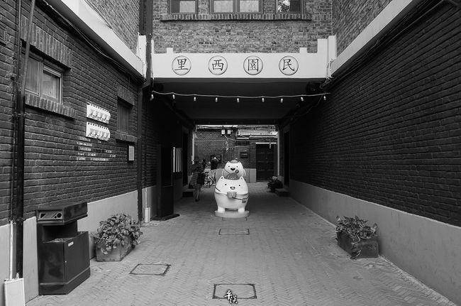 天津五大道Architecture Built Structure Building Exterior Day Entrance Narrow Alley The Way Forward Ricoh Gr Street Photo Stree Photography Black & White Black And White Tianjin China Your Design Story No People Building