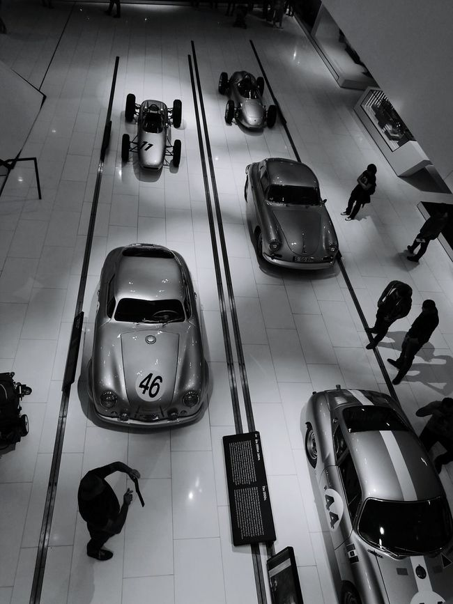 Porsche Museum Stuttgart Evolution  Fast Cars Old To New Blackandwhite No Filter, No Edit, Just Photography Monochrome Photography HuaweiP9