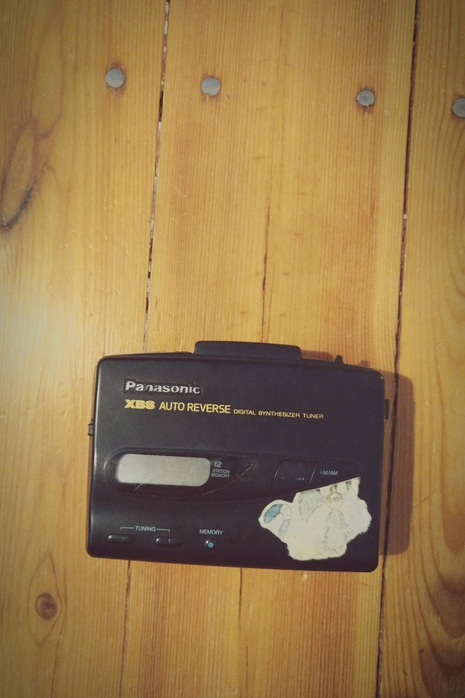 AutoReverse Fundstückdestages Walkman Panasonic  Forward Reverse Oldschool 80s Wohnglück Close-up Music Love Is In The Air What I Value Videokilledtheradiostar Lieblingsteil Favorite Thing Music Brings Us Together Favorite Things  Tape Wood Wooden Floor Timber Piling Fundstück Find Long Goodbye