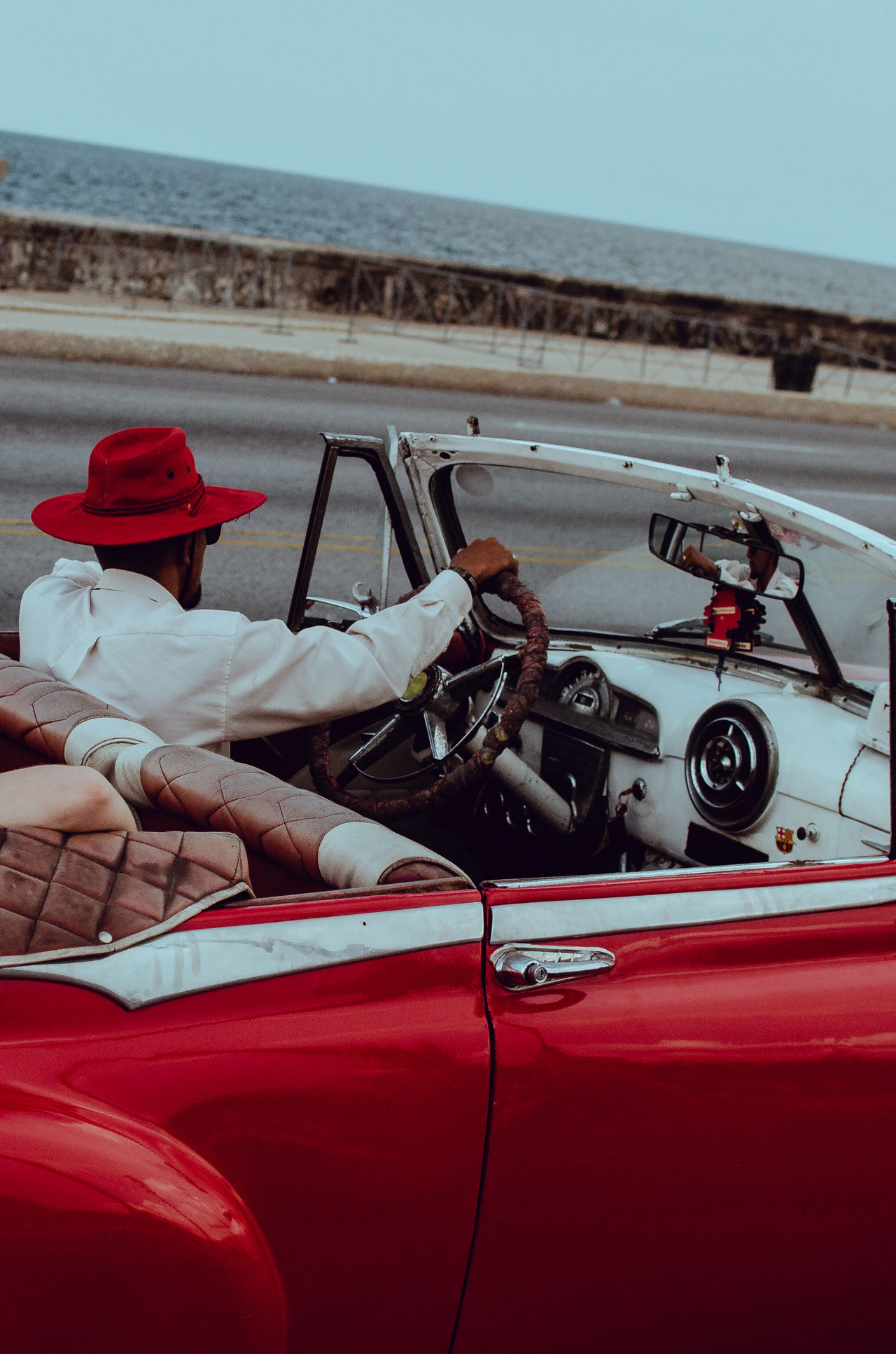 My 2017 trip to Havana. Connected by Travel close-up day land vehicle men mode of transport occupation one person outdoors people real people Red sky Transportation Fresh on Market 2017
