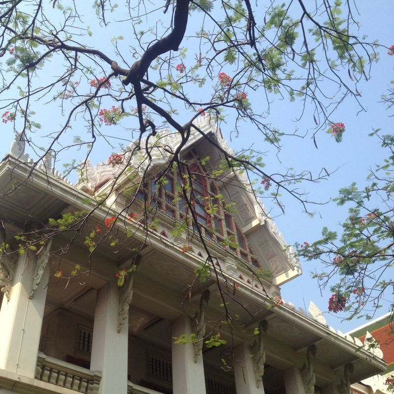 Summer day Thaiarchitecture building Nature