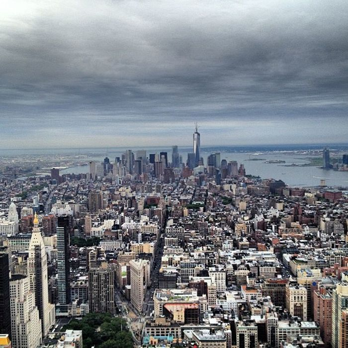 View from on top NYC