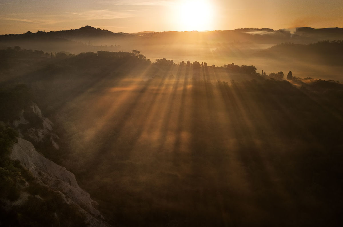 Colors Drone  Earth Landscape_Collection Morning Nature Rays Of Light Toskana Tuscany Italy Landscape Landscape_photography Landscapes Mavicpro Rays Rays Of Sunshine Sun Sunrise Sunset