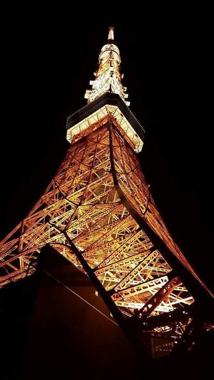 Low Angle View Architecture Night History Tower Tokyo Tower Tokyo Japan
