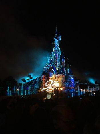 💫 Illuminated Night Celebration Real People Disney Disneyland Paris Magic Mylove Fantasy Mickey Mouse Disneyland Amazing Built Structure France Paris