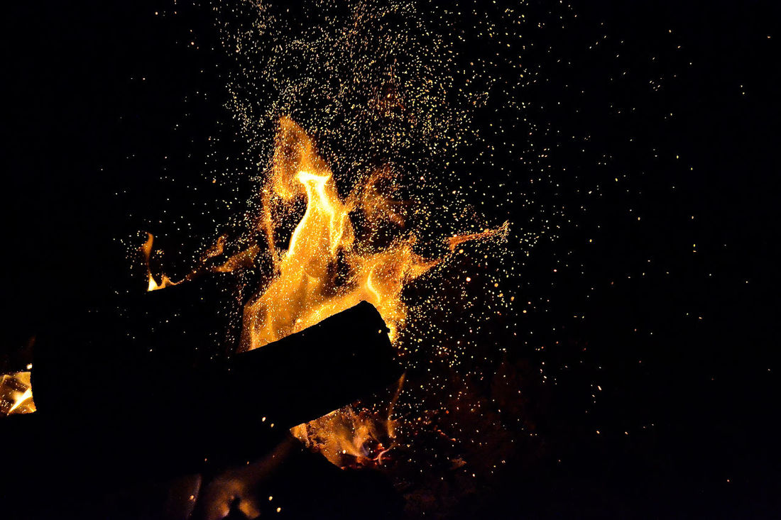 Black And Gold Burning Stars Dust Of Light Fire Dance Firewood Light In Darkness Universe Warm And Shiny
