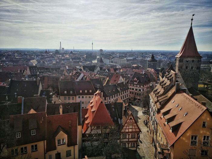 Nürnberg Sky Cityscape Vacations Built Structure No People Bridge - Man Made Structure Travel Destinations Architecture Building Exterior City Reflection Tiled Floor High Angle View Cold Temperature Castle Bayern Bayern Germany Outdoors Old City Medieval