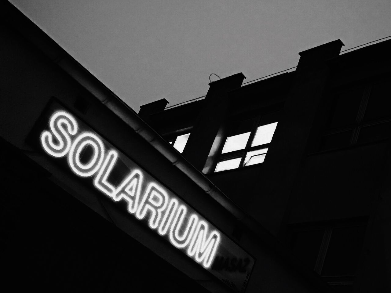 Low Angle View Building Exterior Neon Black And White Bw_collection Monochrome Street Photography Shootermag