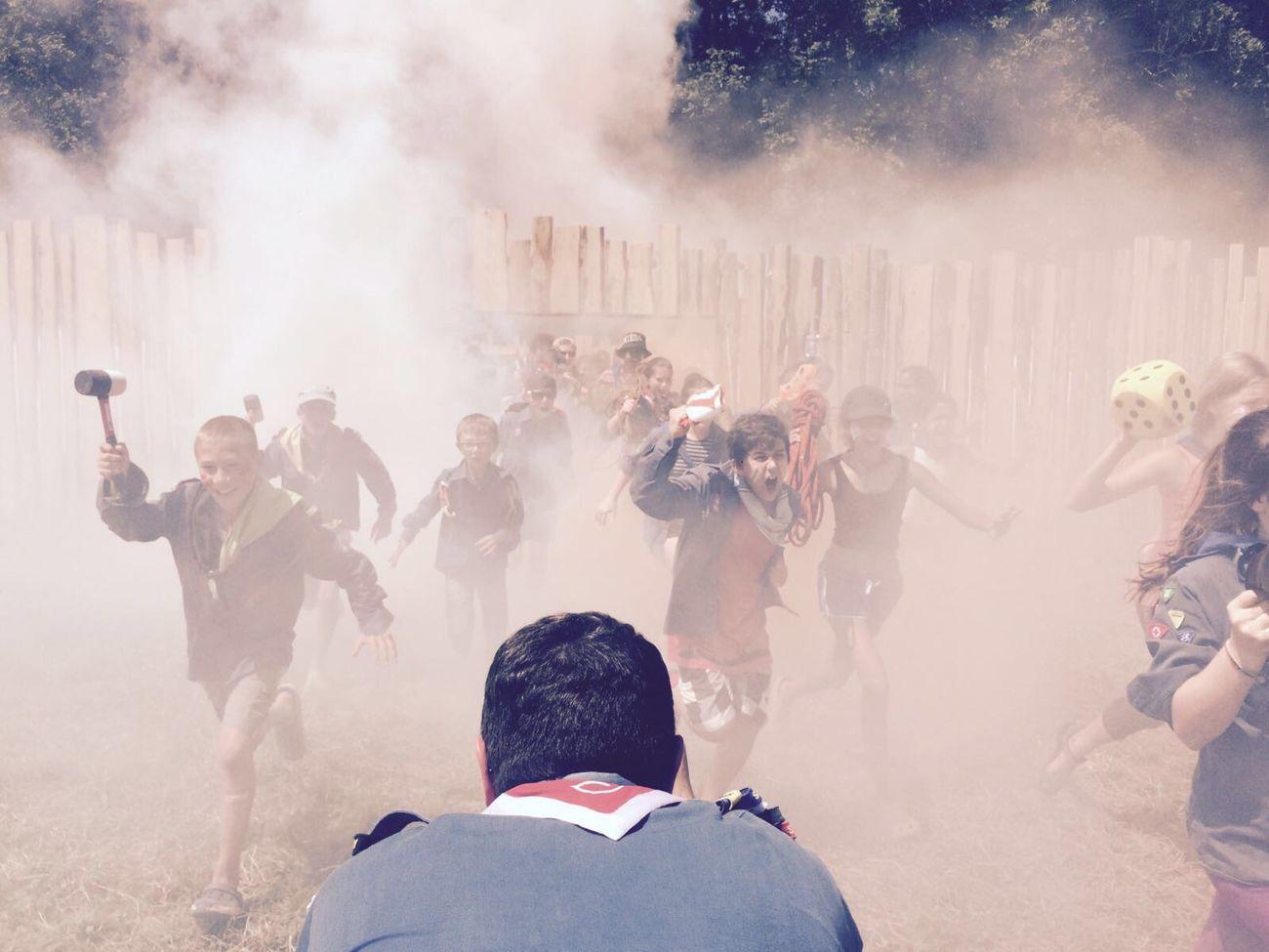 Pathfinder , smoke, outside, stand, still, camera, wild, Pfadfinder, Running People