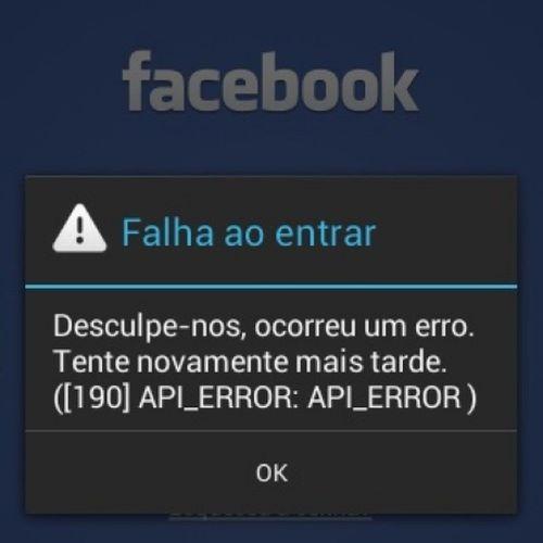 Pode isso??? Facebook Frescura Irritada Falha Erro