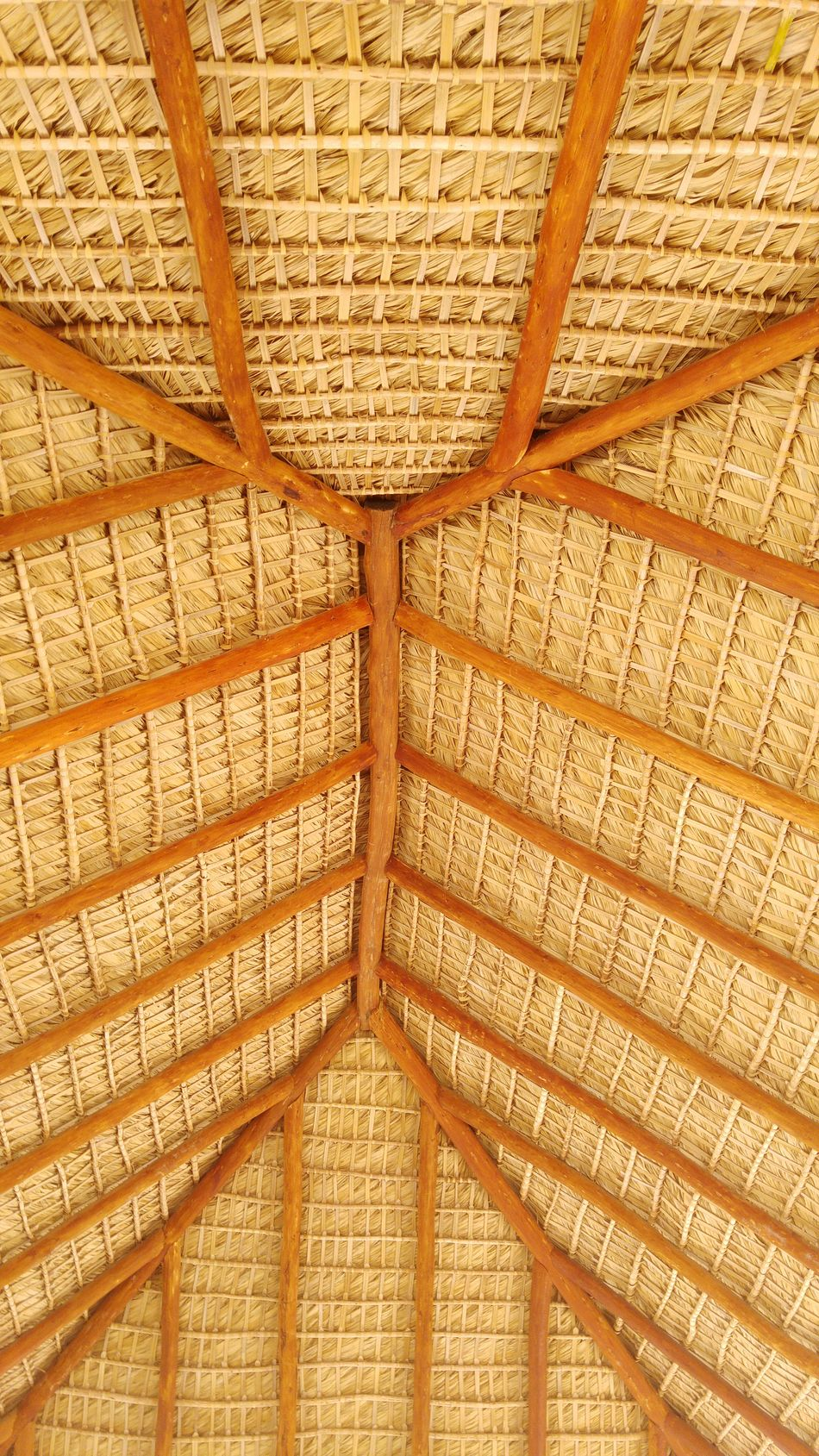 Full Frame Architecture Design Architectural Feature Roof Beam Woven Architectural Design Pattern Caribbean Islandlife Island Architecture Roof Geometric Shape Symetry