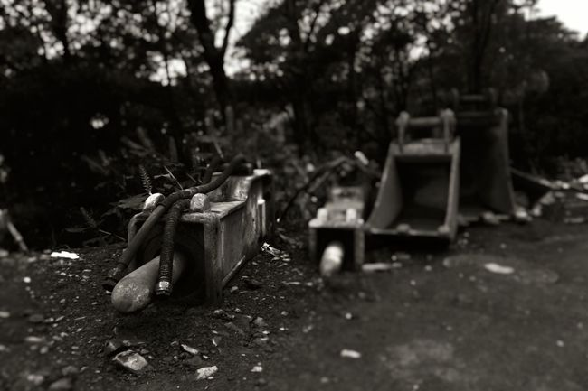 Waiting In Line Black & White Buckets Construction Site Day Discarded Focus On Foreground Group Of Objects Heavyduty Messy Outdoors Pneumatic Roadbuilding Selective Focus Tools Tranquility waiting game Waiting In Line Weathered Monochrome Photography