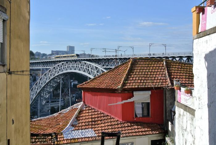 Architecture Blue Building Exterior Built Structure Cloud Cloud - Sky Day Exterior Façade Hidden Gems  Hidden Gems In Porto, Portugal House No People Outdoors Residential Building Residential District Residential Structure Roof Roof Tile Sky Town TOWNSCAPE