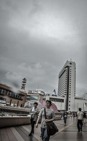 Sky And City Rainy Day
