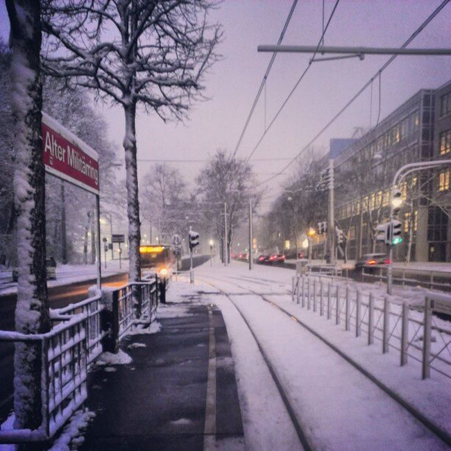 Müngersdorf as Winter Wonderland. #Cologne #Snow Snow Cologne