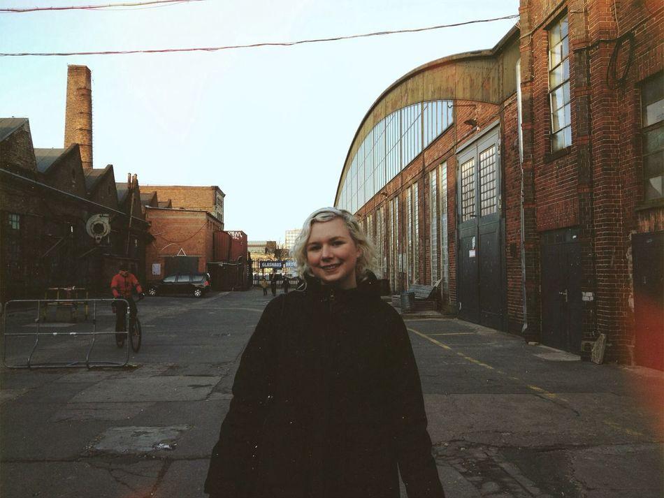 Beautiful stock photos of berlin, Berlin, Blonde Hair, Brick Wall, Clear Sky