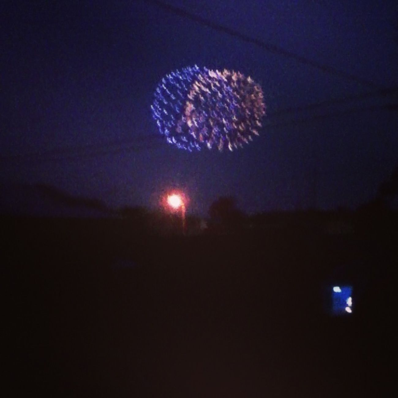 Watching fireworks<3
