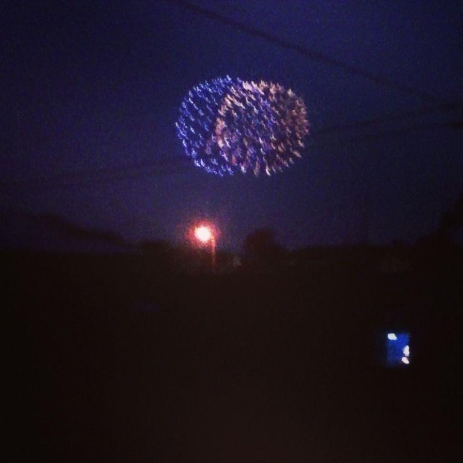 Watching fireworks<3