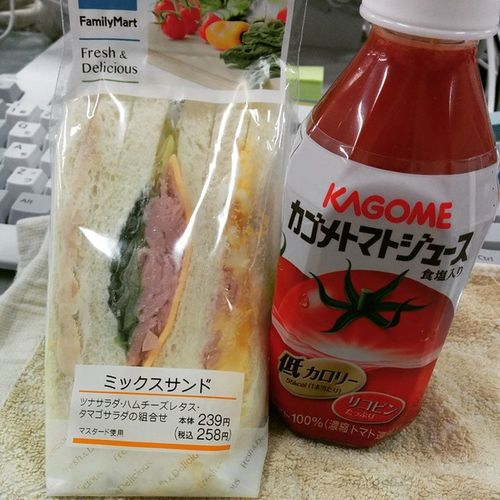 サンドイッチ食べてお仕事スタート! Breakfast Bread Sandwich Familymart