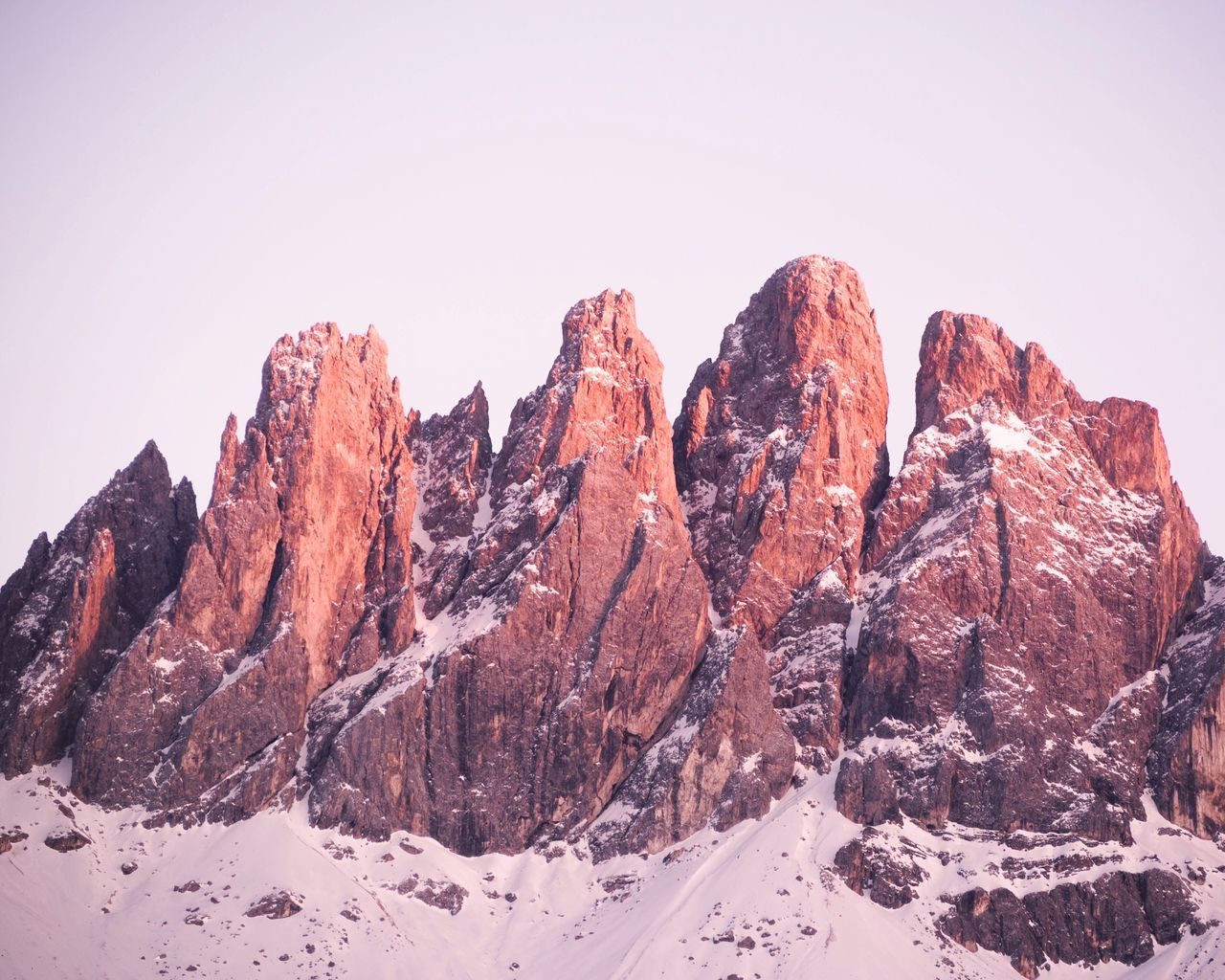 Mountain Nature Snow No People Rock - Object Tranquility Mountain Range Beauty In Nature Cold Temperature Outdoors Clear Sky Winter Landscape Scenics Day Sky The Great Outdoors - 2017 EyeEm Awards at Dolomites, Italy BYOPaper!
