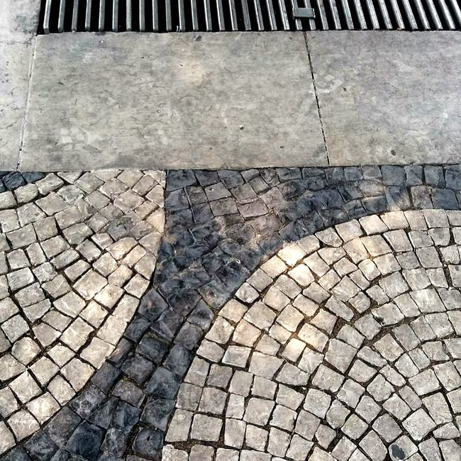 Patterns on the street Paving Stone Pattern Photography Casualphotography Streetphotography Photographing Lisbon Portugal Lisboa, Portugal Architecture Photography Geometric Shape Lines, Shapes And Curves Lines And Shapes Casual Photography City Asphalt