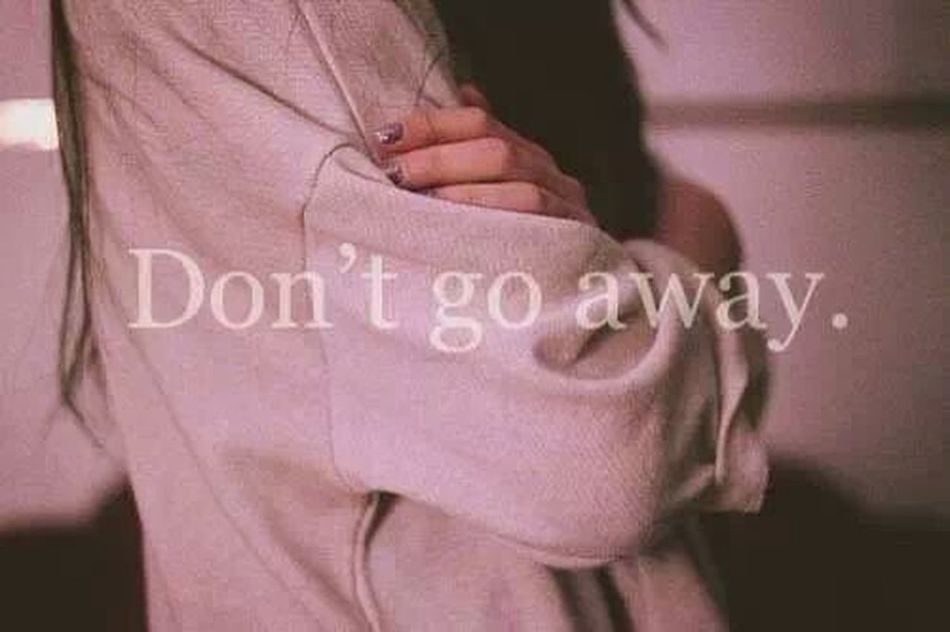 Never Leave Dont Go Away