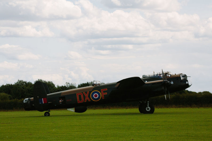 World War 2 Airplane Aviation Avro Anson Day Field Grass Historic Lancaster Bomber No People Outdoors Sky Tree