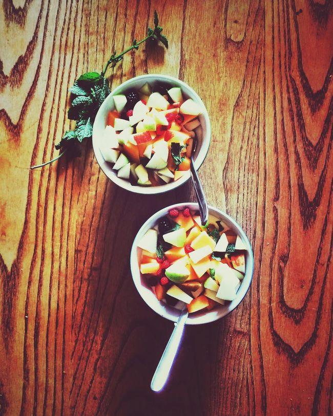 Breakfast. Yoghurt with freshly picked fruits. Foodphotography Foodporn Breakfast Fruits in France , Brandeville
